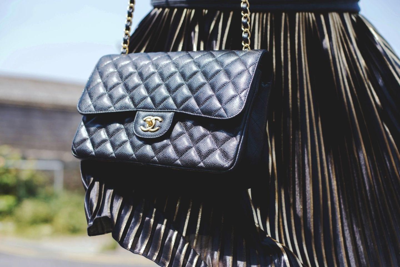 Chanel Black Caviar Handbag jumbo