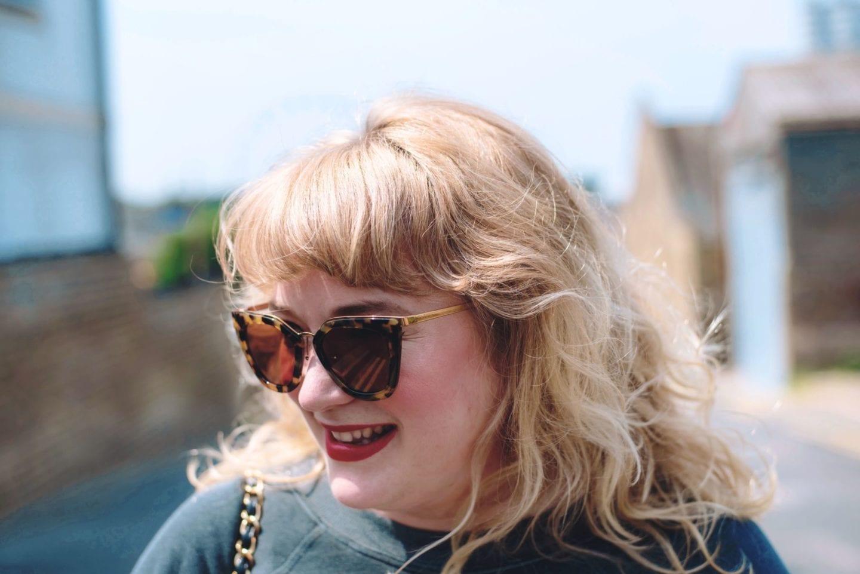 Prada Sunglasses cateye fashion for lunch blog