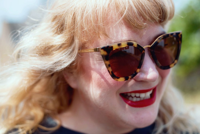 Prada Sunglasses fashion for lunch blog
