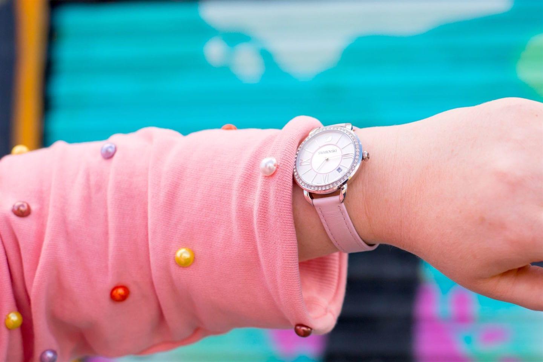 pink Swarovski Aila Day Rose Watch