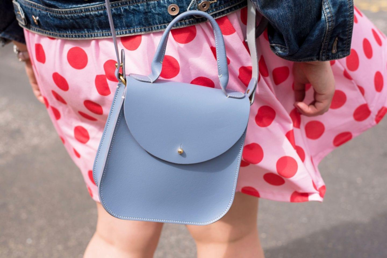 charlotte elizabeth handbag blue pastel