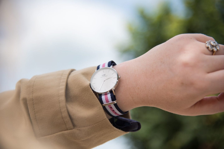 daniel wellington watch pink white blue navy