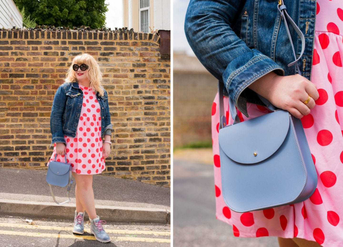 fashion for lunch blog curve style polka dots