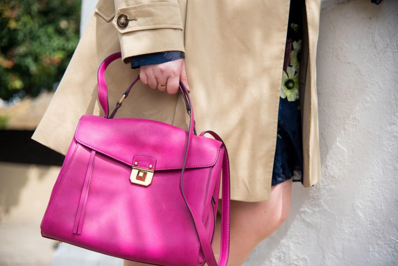 mcm worldwide pink handbag satchel kelly style
