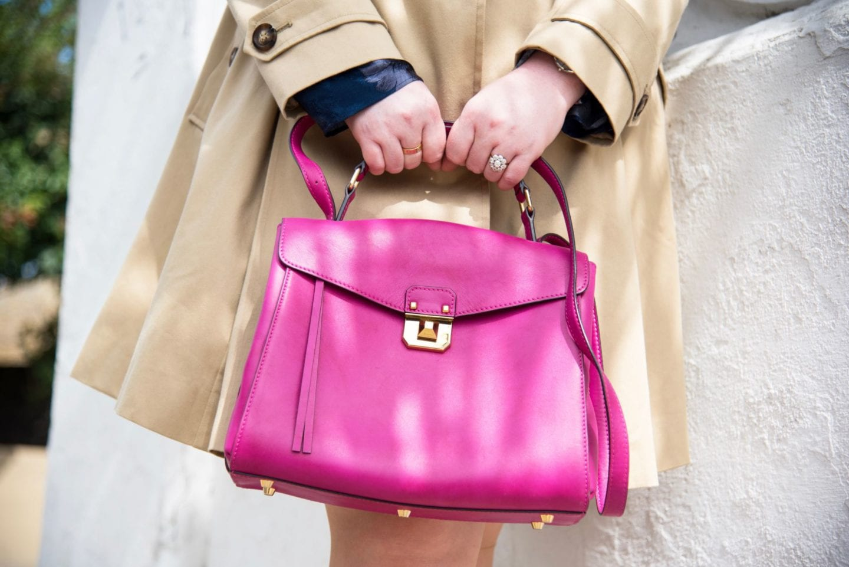 mcm worldwide pink handbag satchel kelly style fashion blogger