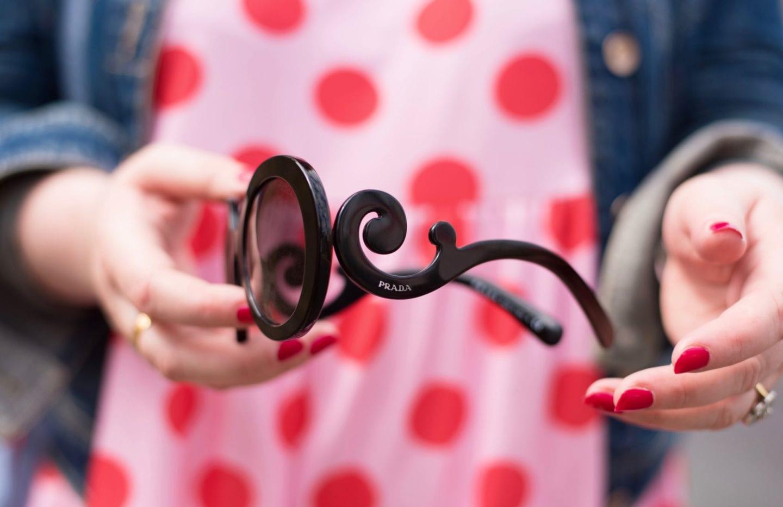 prada baroque sunglasses sunnies black