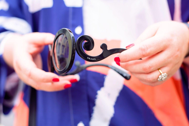 prada sunglasses black very exclusive swirls