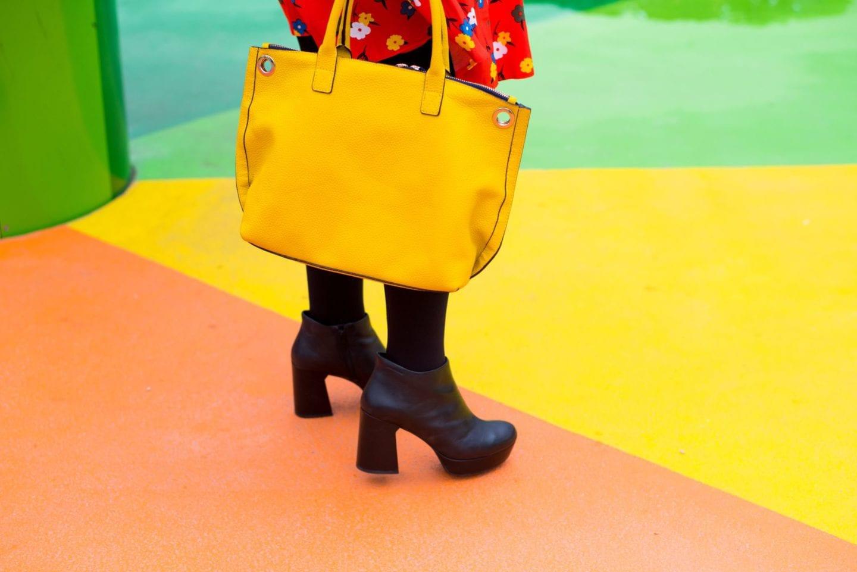 boden yellow handbag tote bag