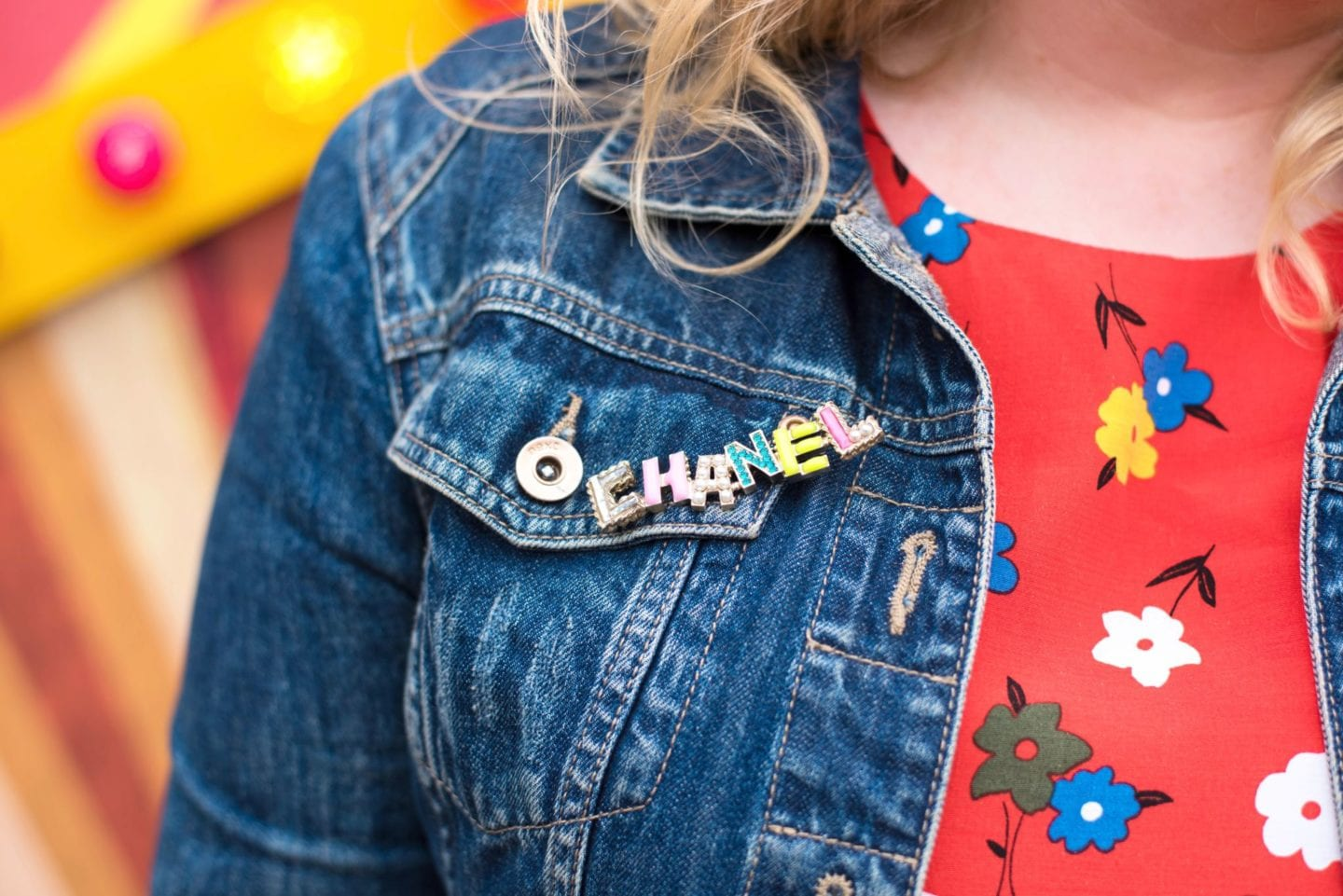chanel colourful brooch colorful