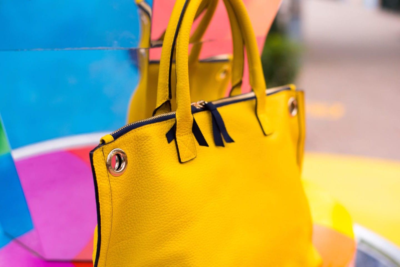 dreamland margate photoshoot boden yellow handbag