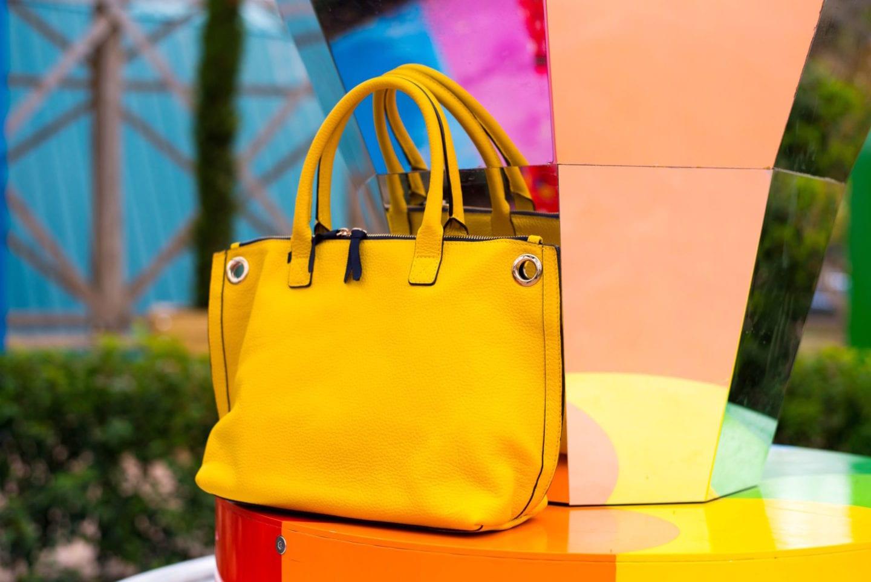 dreamland margate photoshoot boden yellow handbag tote bag