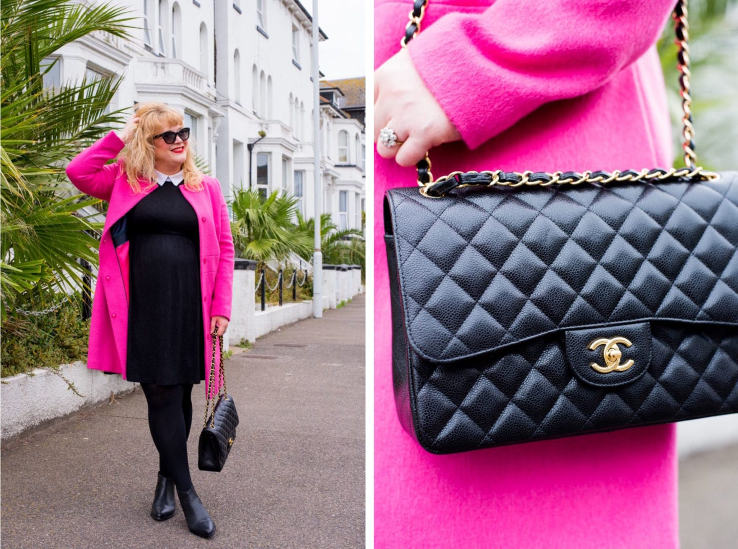 fashion for lunch blog curve style chanel handbag caviar flap bag