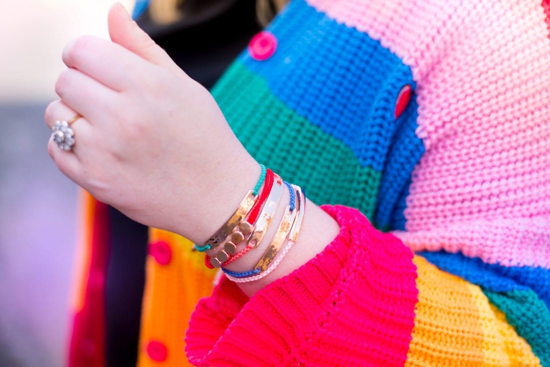 monica vinader bracelets rainbow colours