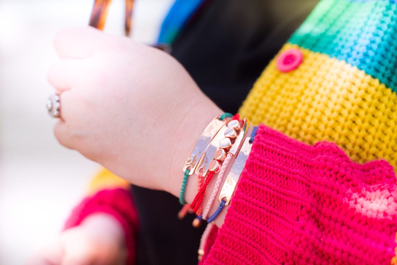 monica vinader bracelets rainbow colours beach string