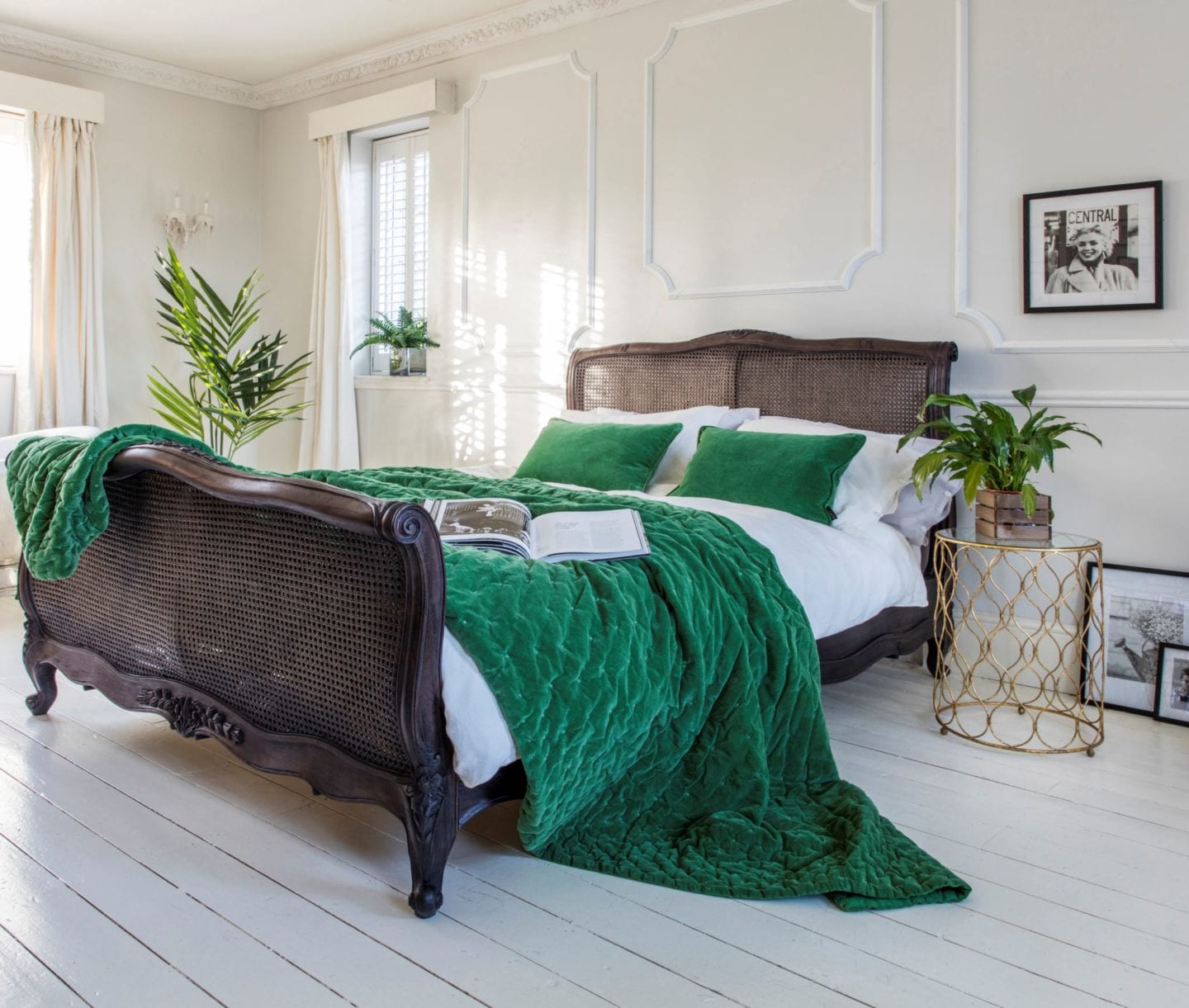The french bedroom company wood wicker bed