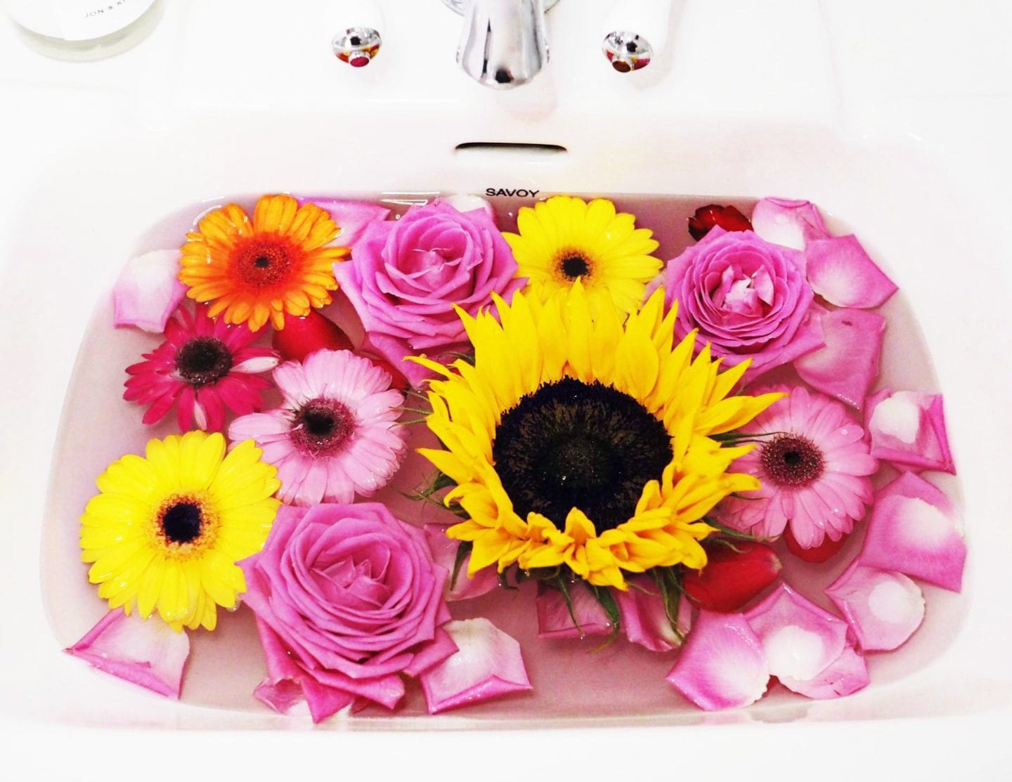 flowers-in-a-sink-colorful