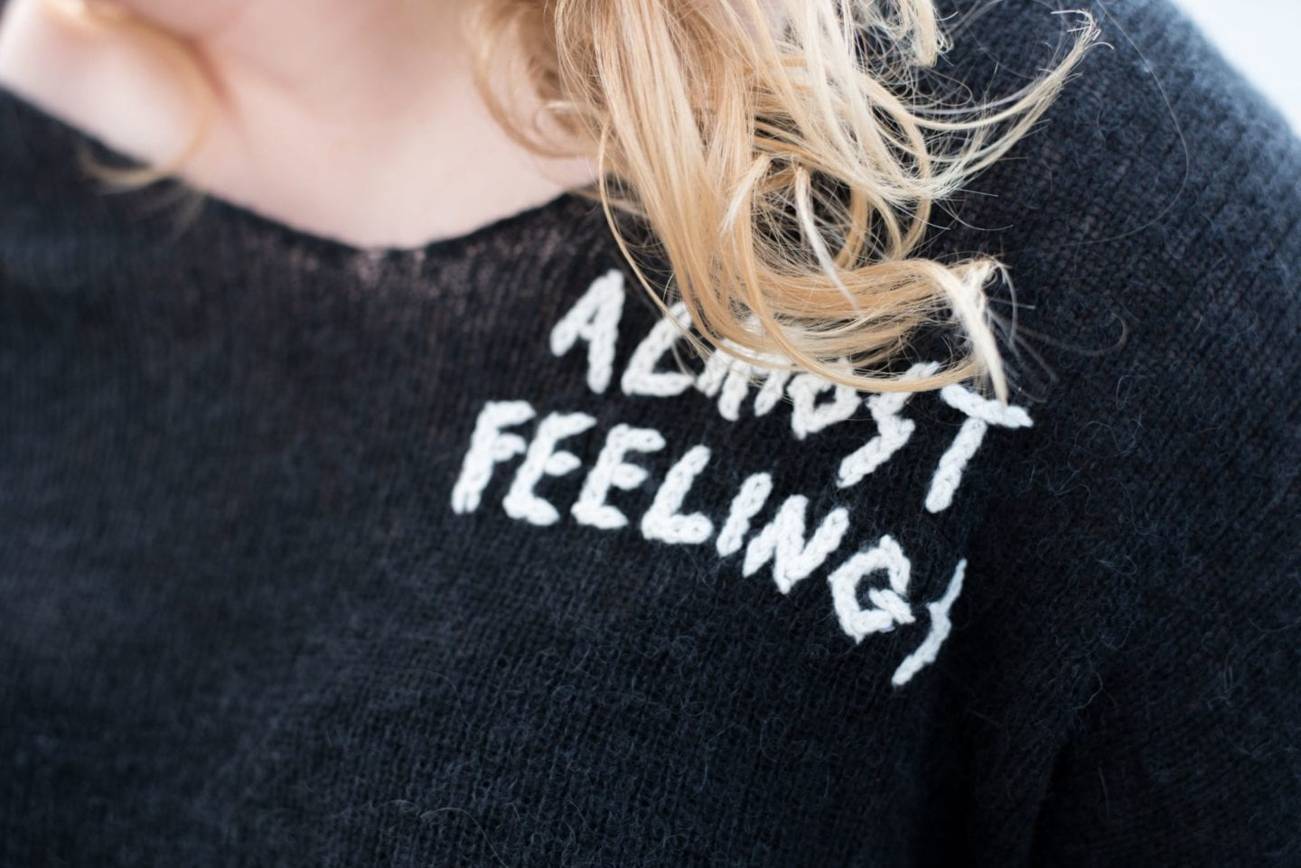 wildfox almost feelings jumper