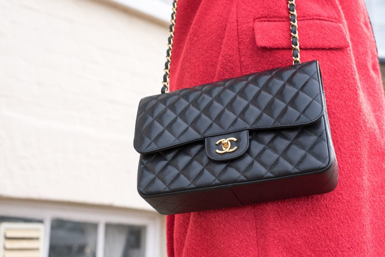 chanel black handbag classic flap bag