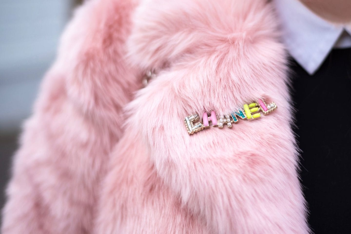 chanel pink pastel coloured brooch