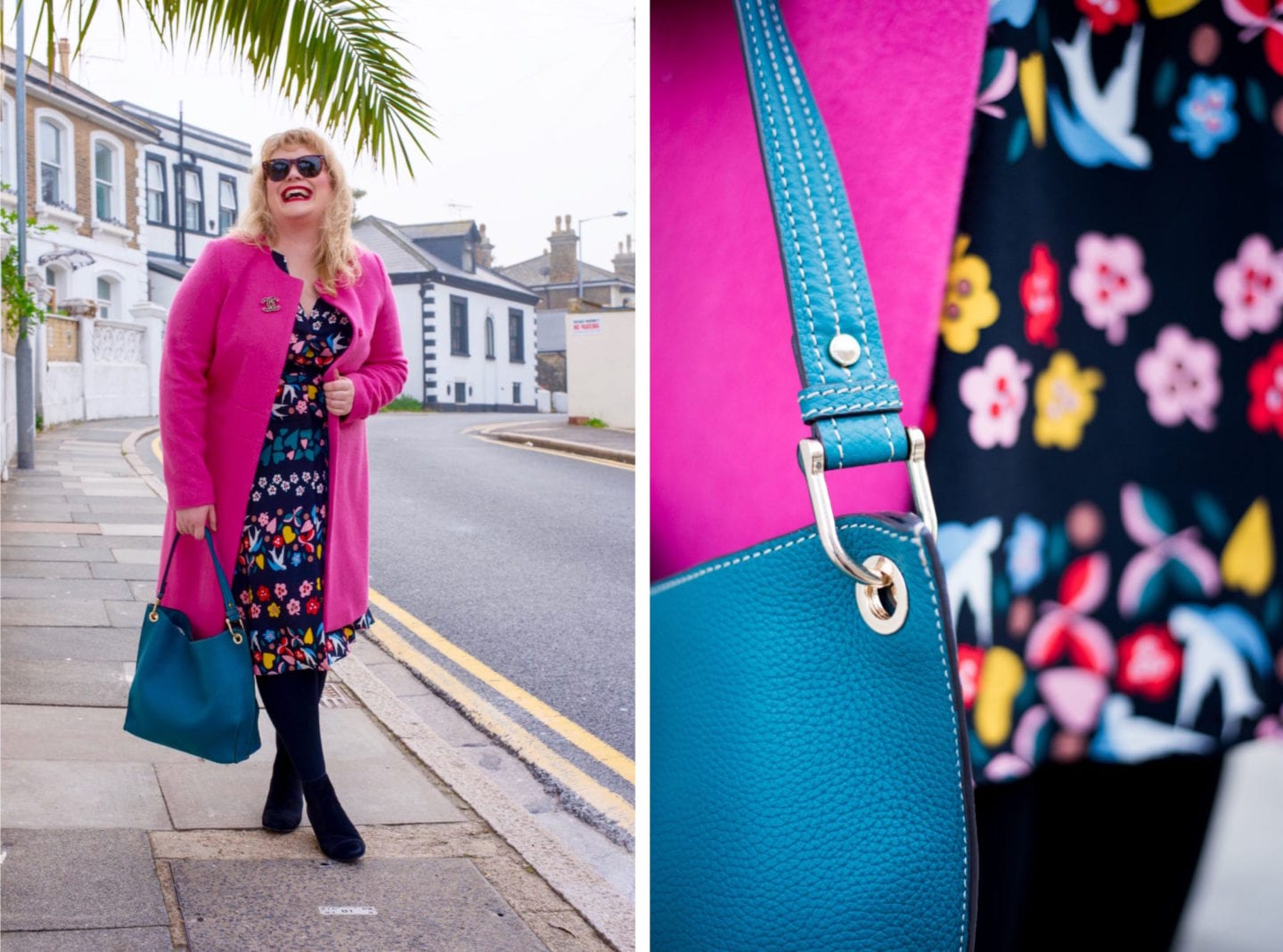 fashion for lunch blog boden pink coat