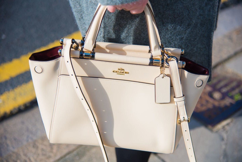 coach handbag x selena seleena gomez white cream