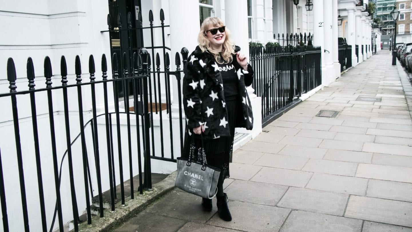 Fashion for Lunch Navabi star print fur coat
