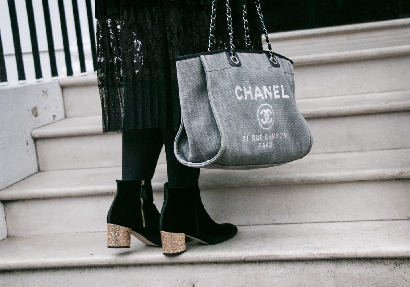 Fashion for Lunch chanel canvas tote bag handbag jpg