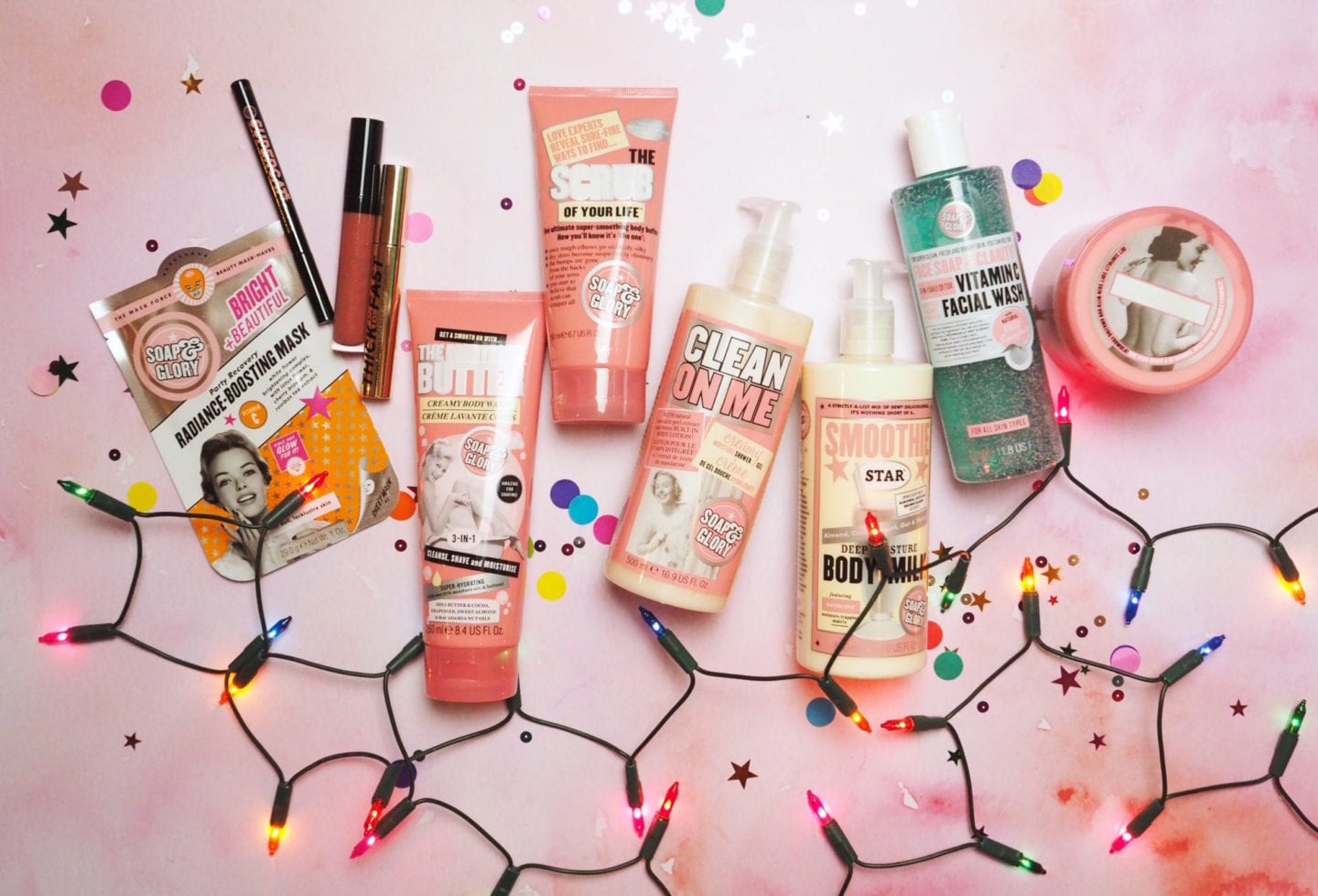 Soap & Glory 'Spa of Wonder' 2017 Bumper Gift Set is OUT NOW pink clean on me christmas