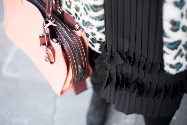 elvi skirt pleated black