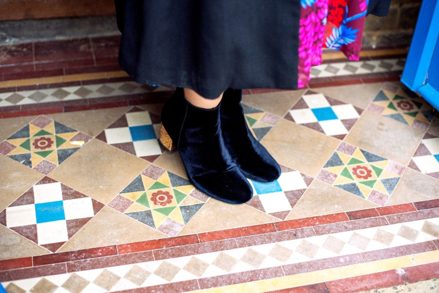 fashion for lunch blog boden navy blue boots