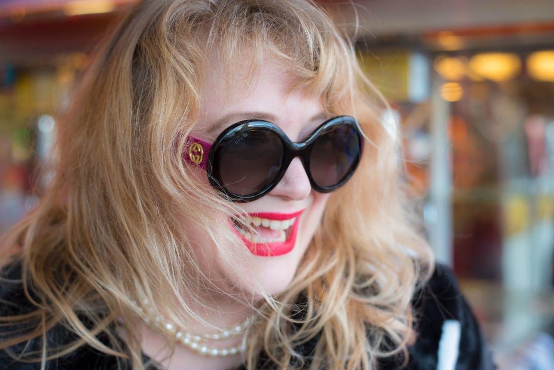 gucci pink glitter sunglasses