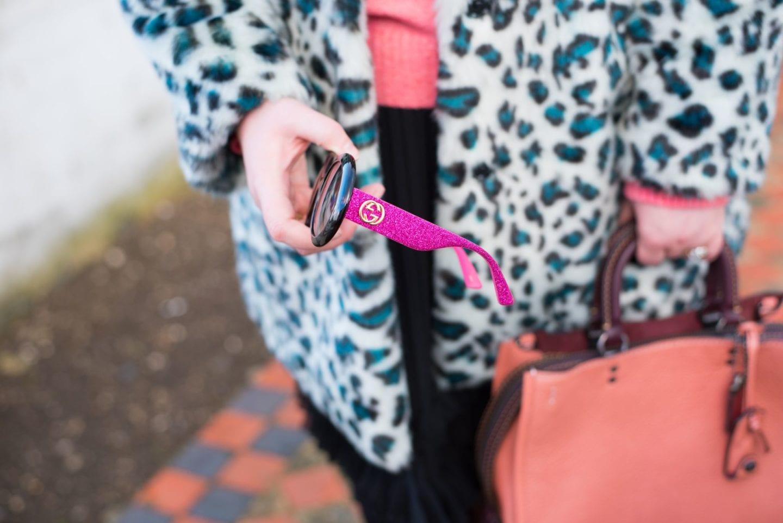 gucci sunglasses pink glitter