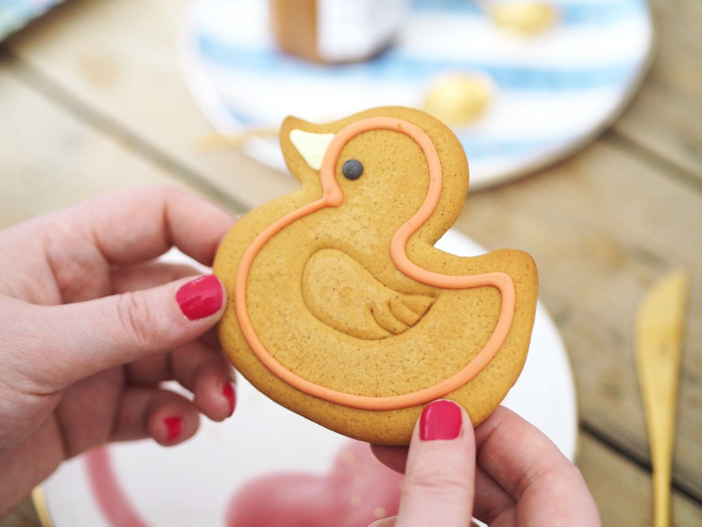 duck cookie snack time