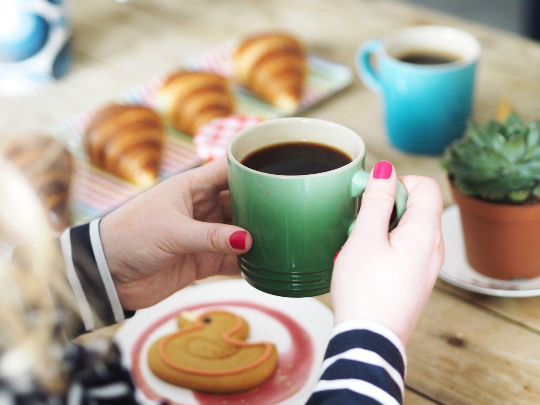 house of fraser le creuset orange volcanic blue mug and green mug rosemary