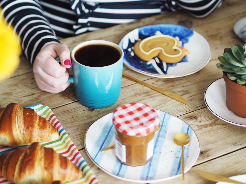 house of fraser le creuset orange volcanic blue mug coffee biscuits