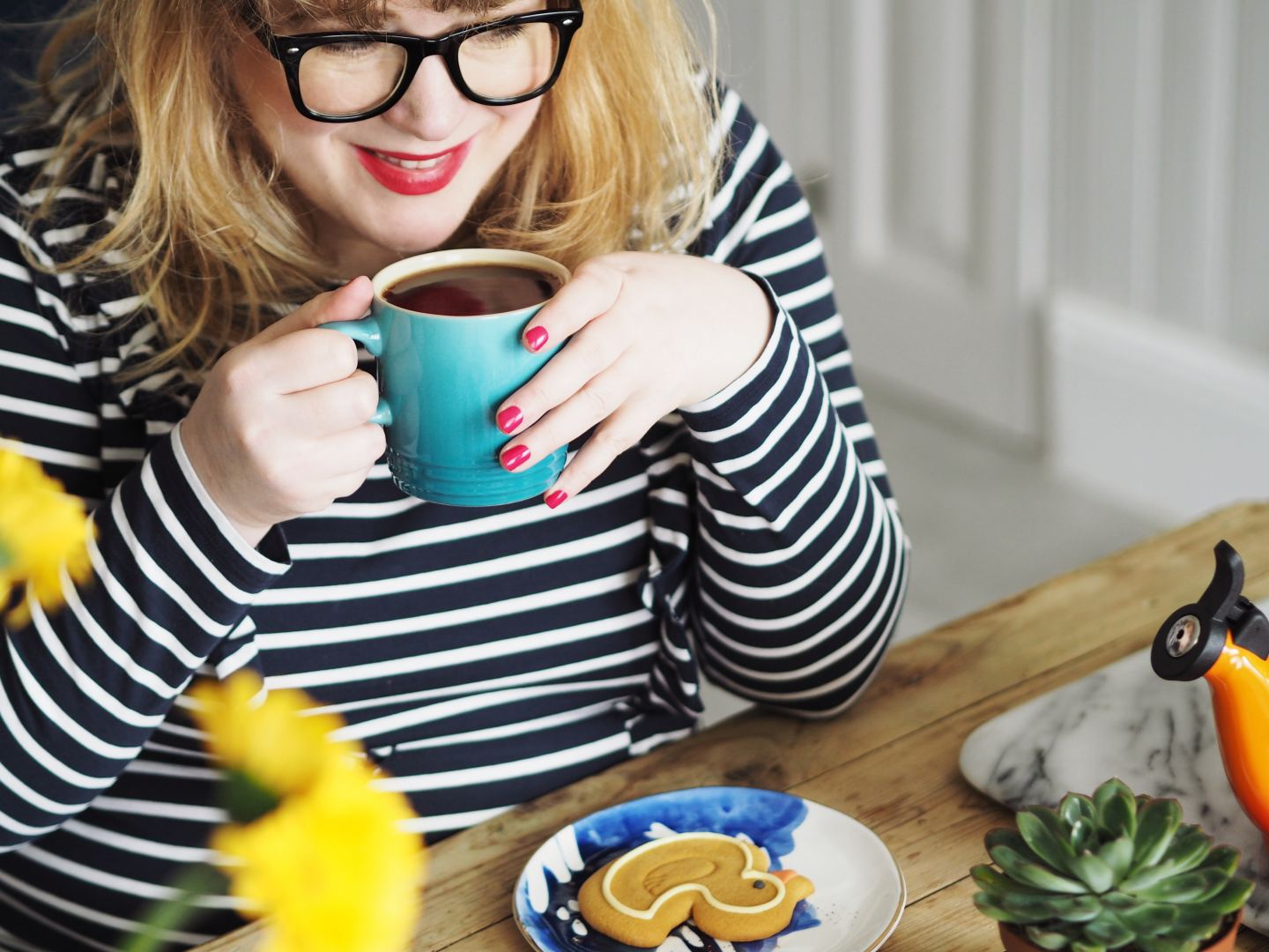 house of fraser le creuset orange volcanic blue mug fashion for lunch blog