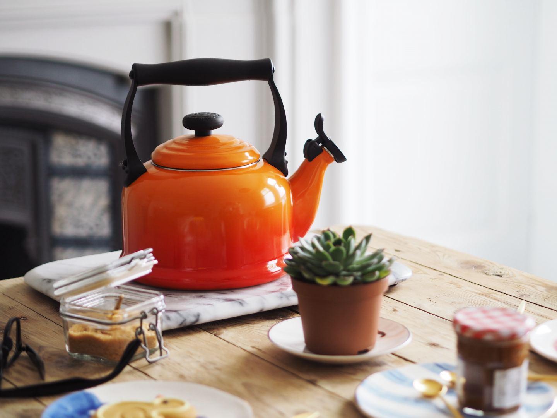 house of fraser le creuset orange volcanic kettle