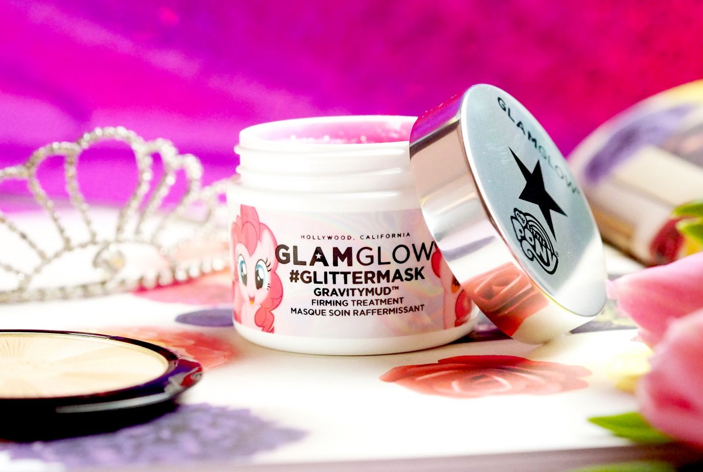 Glamglow X My Little Pony GlitterMasks pink glitter