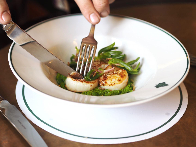 The Ivy, Tunbridge Wells scallops lunch starter