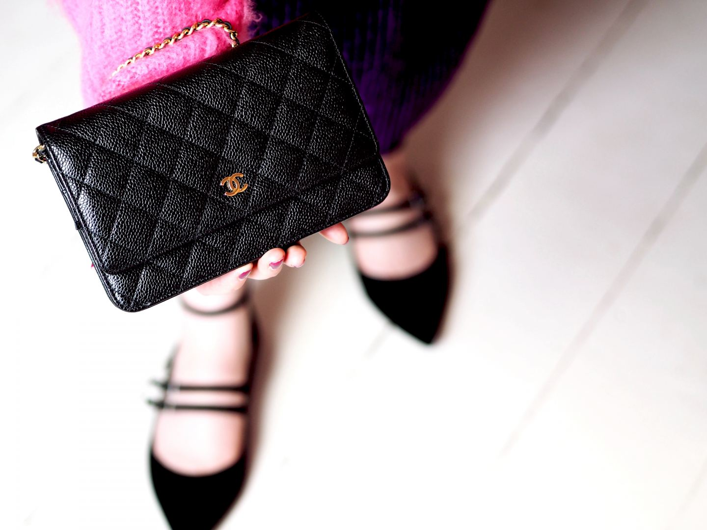 chanel wallet on chanel handbag black caviar leather fashion for lunch blog a