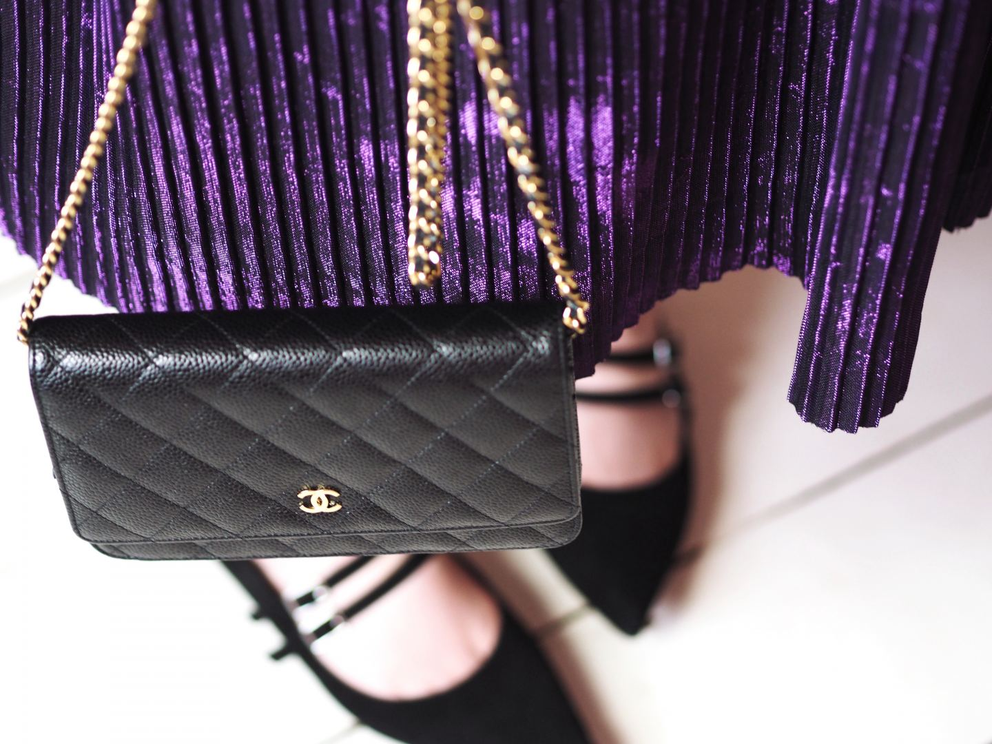chanel wallet on chanel handbag black caviar leather fashion for lunch blog v