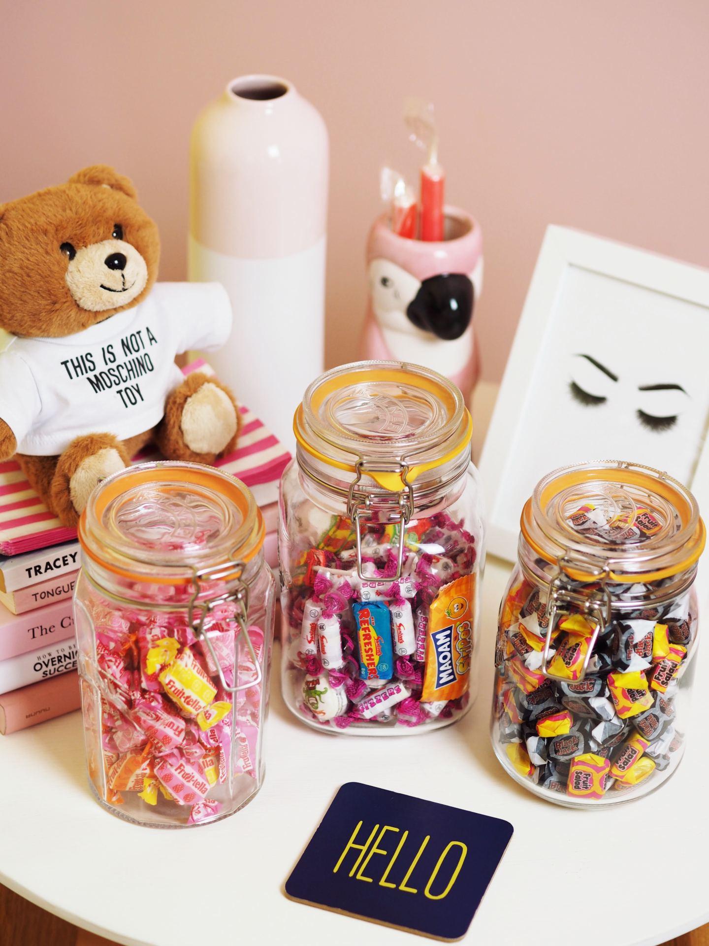 kilner jar of candy vintage