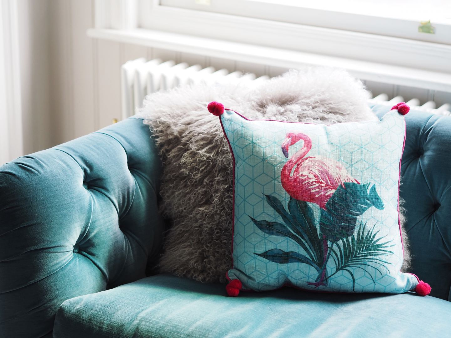 matalan cushion flamingo