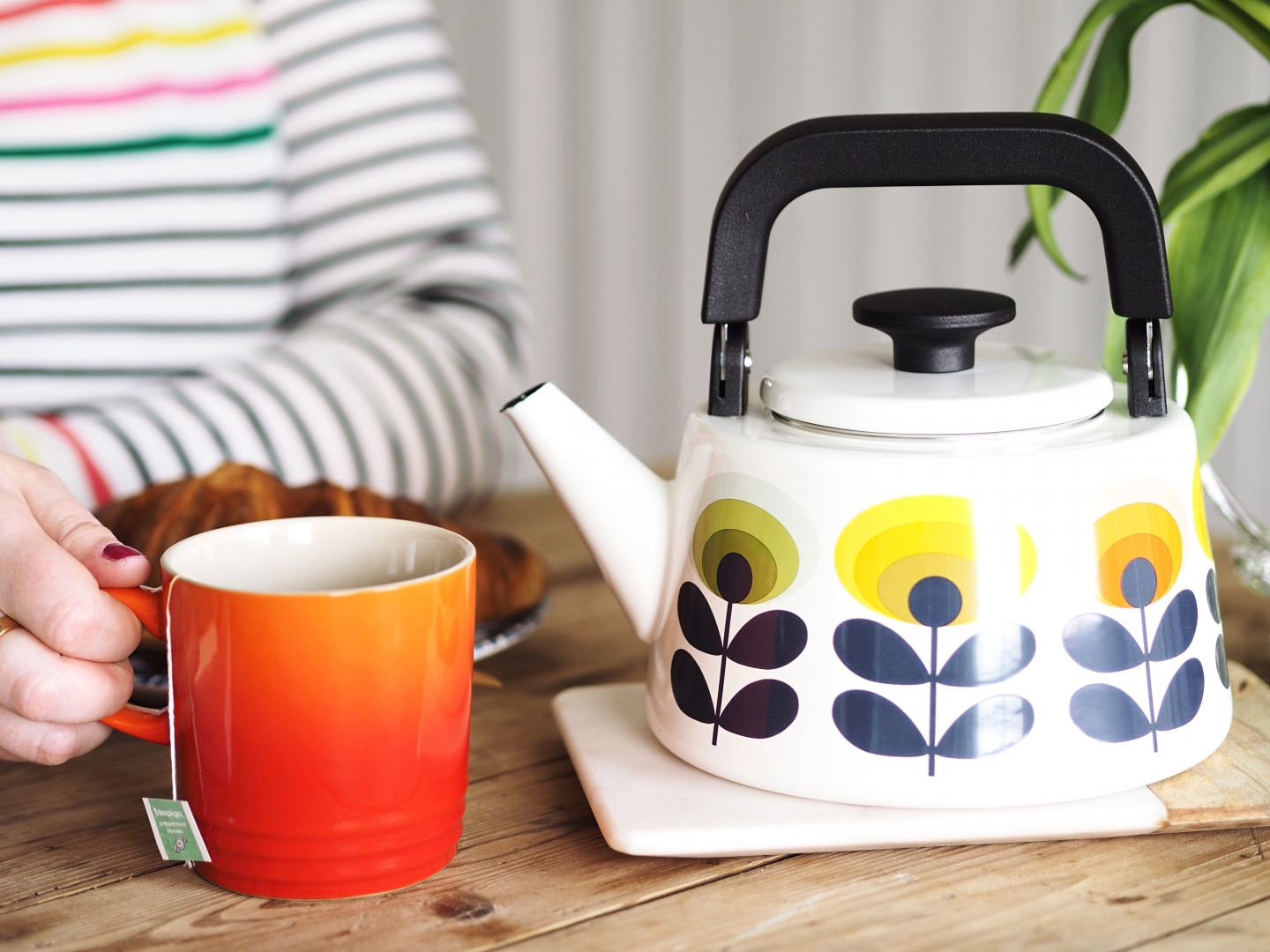 orla kiely teapot retro 1970s colourful home styling fashion blog style design