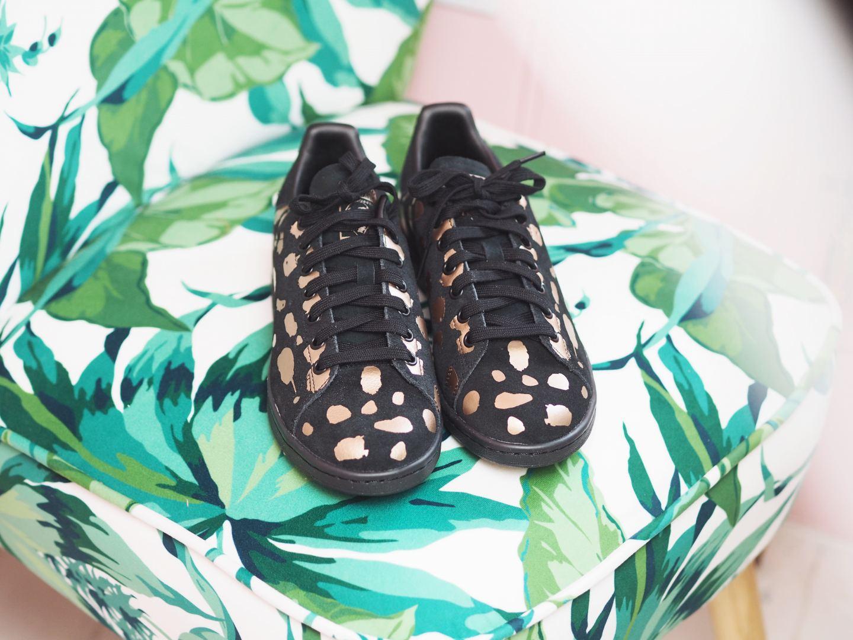 adidas x stan smith trainers polka dot