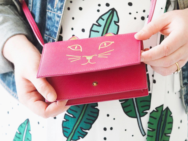 charlotte olympia cat bag feline handbag red pink