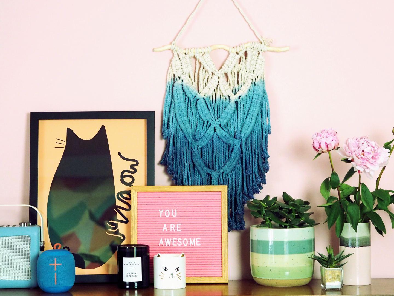 matalan macrame wall hanging shelfie fashion for lunch blog