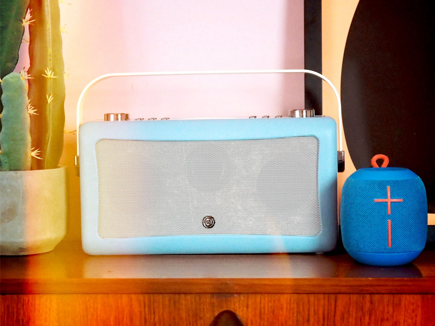 my VQ radio and ultimate ears speaker