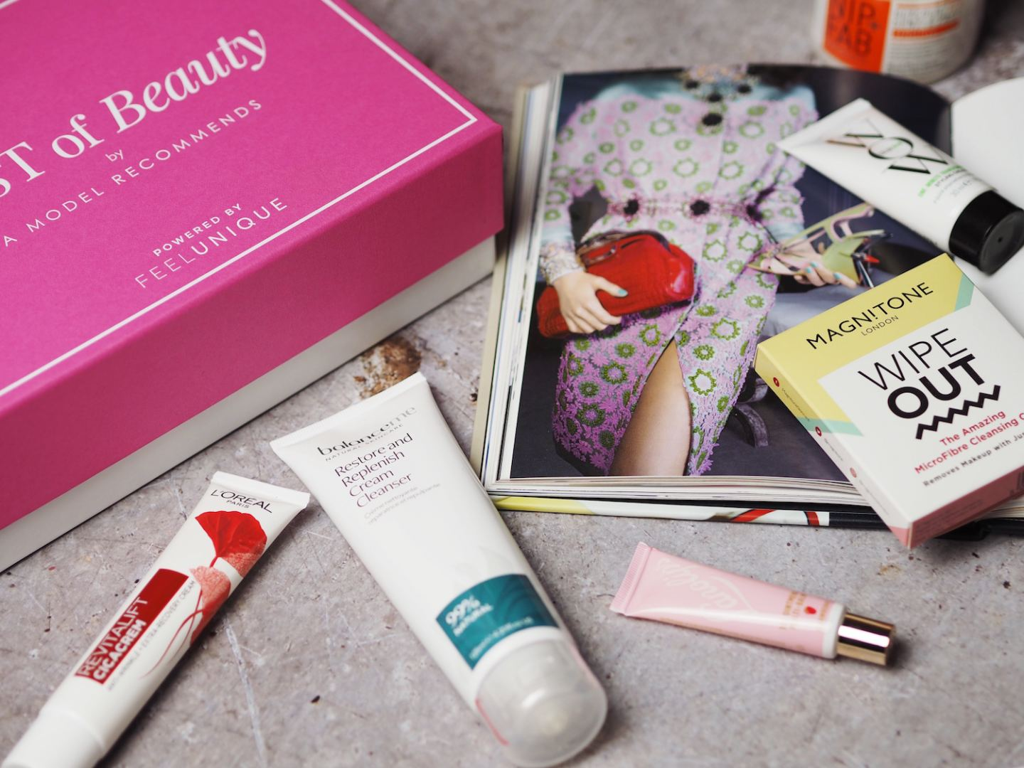 feel unique feelunique beauty box powered by beauty subscription box graet value ruth crilly a model recommends