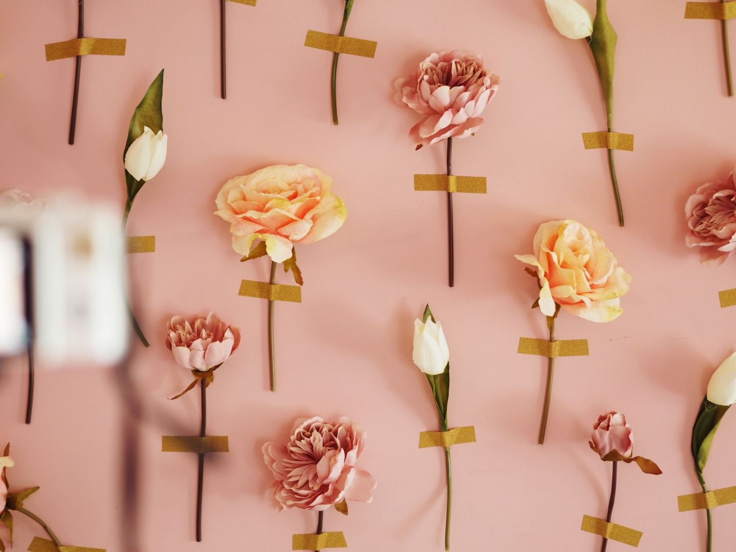how to make a fake flower wall
